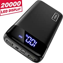 INIU Portable Charger, LED Display 20000mAh Dual 3A...