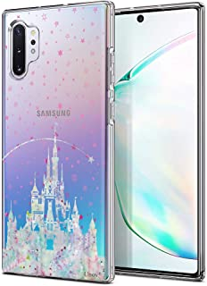 Unov Galaxy Note 10 Plus Case Clear with Design Soft TPU Shock Absorption Slim Protective Galaxy Note 10 Plus/Note 10 Plus 5G Case Embossed Pattern(Watercolor Castle)