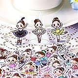 SUNYU 40 Uds Ballet GirlTodos los días Pegatina para Chico DIY portátil Maleta monopatín Moto teléfono Coche Juguete Scrapbooking Pegatinas