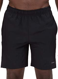 Men's Two in One and Unlined Athletic Running Shorts with Pockets and Zip Back Pocket