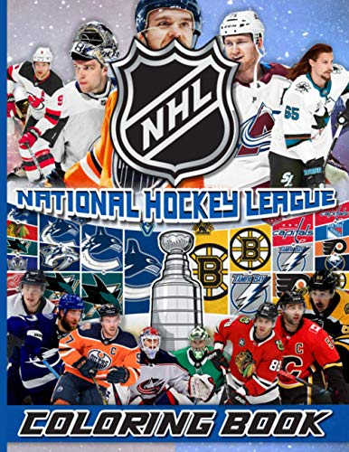 Nhl National Hockey League Coloring Book: Great Gift Adult Coloring Books For Women And Men