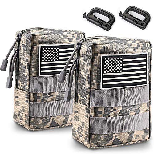 Monoki Molle Pouches, 2 Pack Tactical Waist Bag...
