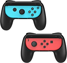 MoKo Grip for Nintendo Switch Joy-Con, 2-Pack Switch Controller Grip Handle Kit for Nintendo Switch Joy-Con (Black)
