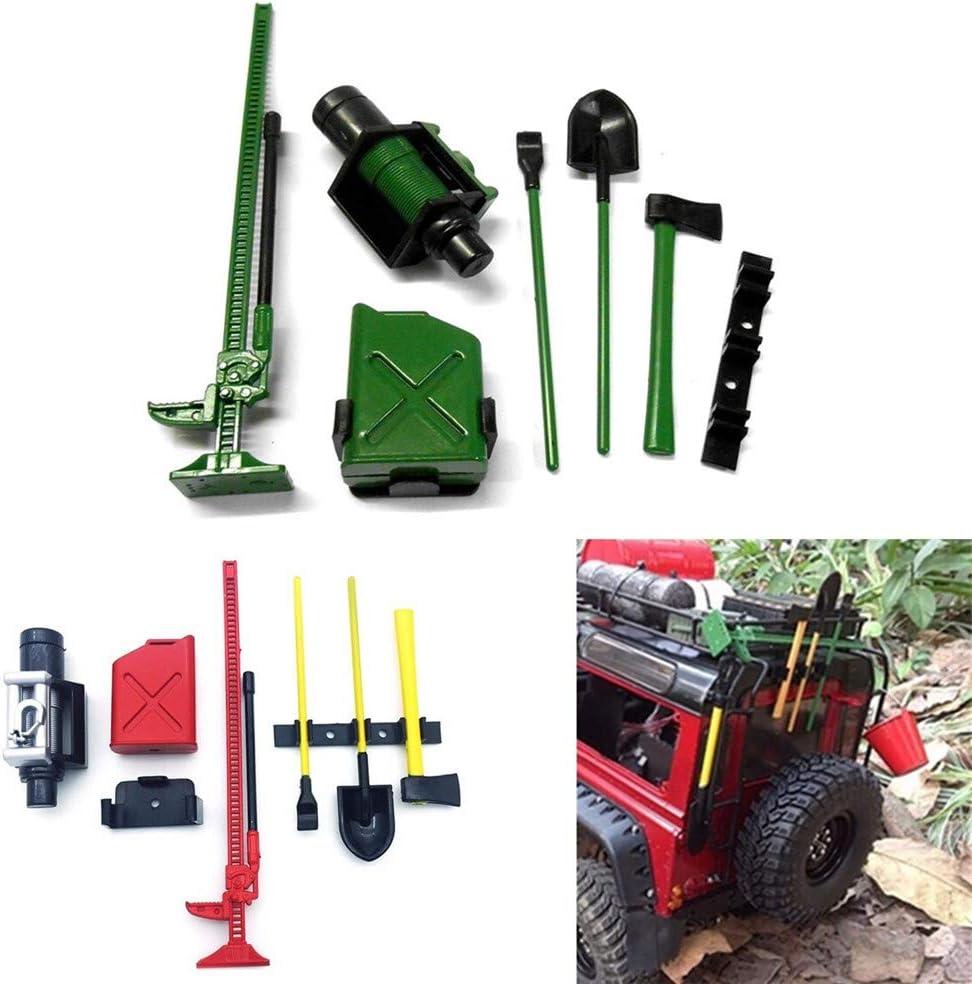 7PC 1/10 Rc Rock Crawler Decoración Accesorios Herramientas para TRAXXAS TRX-4 D90 D110 SCX10 piezas de coche