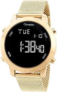 Relógio Feminino Dourado Digital Preto Champion Original+NF