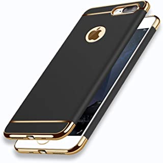 iPhone 8 Plus Case Matte Black Ultra Thin Slim Fit Full Body with Screen Protector Included