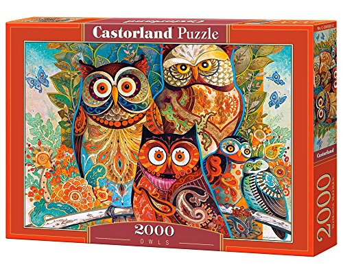 Castorland Owls 2000 pcs Puzzle - Rompecabezas (Puzzle rompecabezas, Arte, Niños y adultos, Búho, Niño/niña, 9 año(s)) , color/modelo surtido