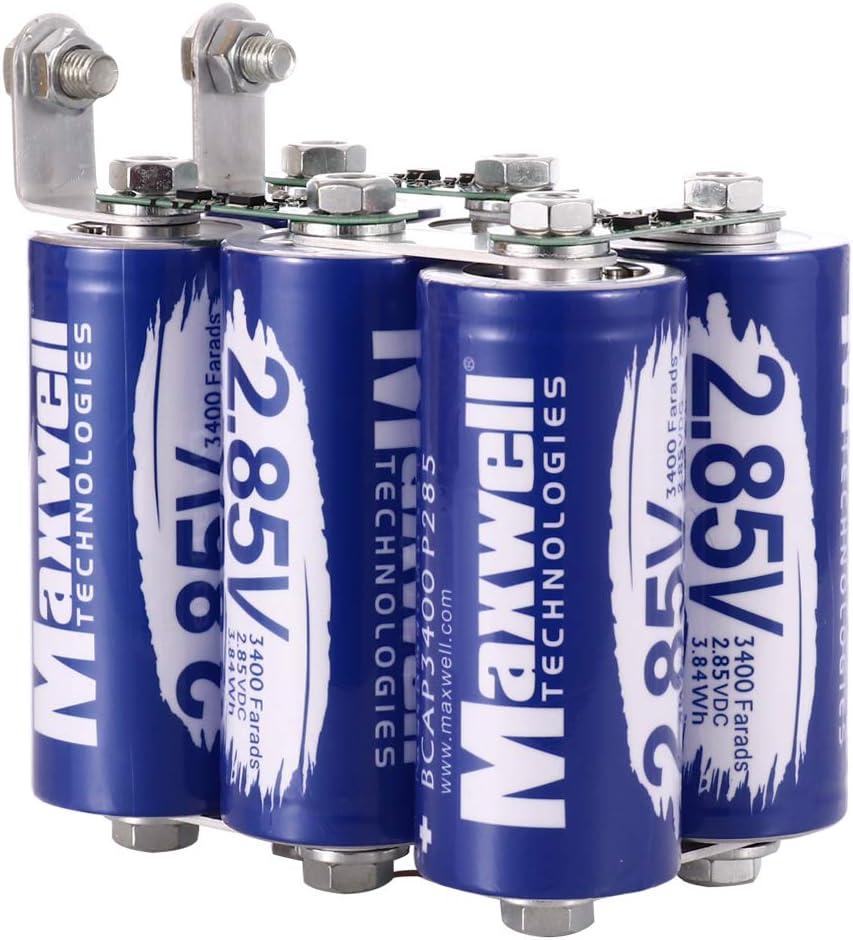 Amazon Com Maxwell Durablue 17v 567f Super Capacitor Battery 3400farad Car Audio Amplifier 12v Medical Equipment Ups Battery Car Electronics