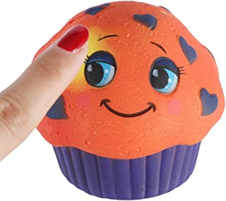 Mikilo Squishy Toy, Color Change by Temperature Squishies, Cup Cake Slow Rising Scented Reliever
