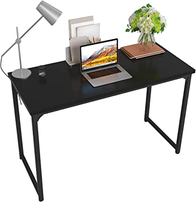 Industrial Simple Office Desk Table PC Laptop Table Workstation Modern Study Table for Students in Living Room, Bedroom Small Space (55Inch, Black)