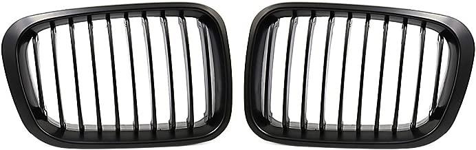 uxcell Matte Black Kidney Grille Grill for BMW 3 Series 98-01 E46 320i 325i 328i 330i 4 Door Sedan