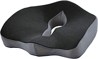 AstiVita Premium Orthopaedic Memory Foam Cushion - Memory Foam Pillow - Sciatica Coccyx Pillow - Plane/Car/Office Chair Seat Cushion(Black) - Body Pillow