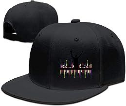 Lights DJ Sound Activated Light Up Rave Unisex Snapback Hat Cool Flat Caps New