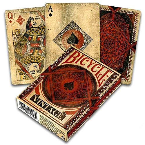 Shop4top Bicycle Vintage Classic Spielkarten Karten Made In Usa Original Aged Look Neu