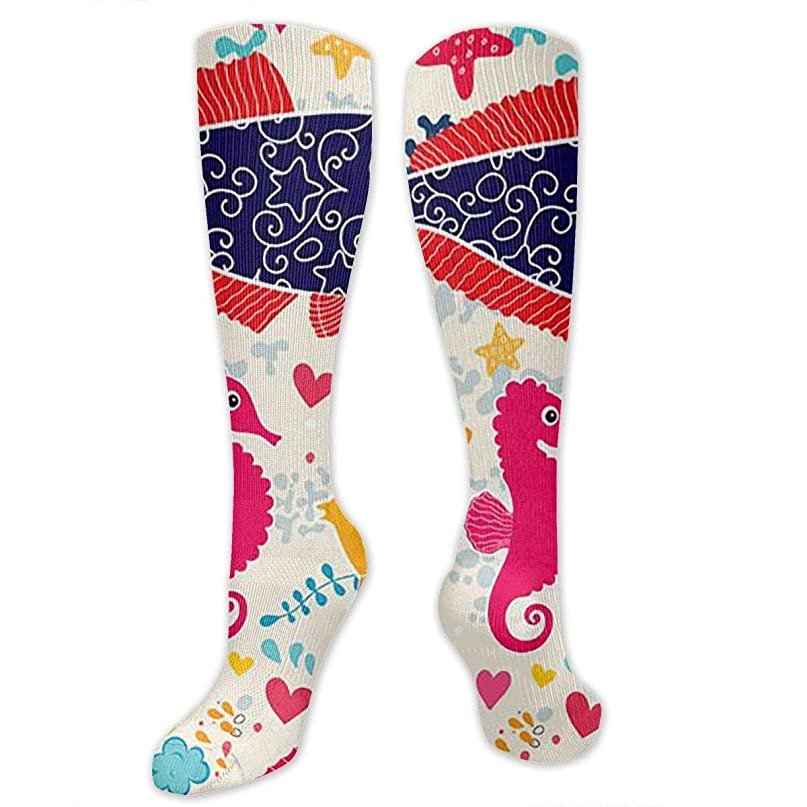 牛情緒的開いた靴下,ストッキング,野生のジョーカー,実際,秋の本質,冬必須,サマーウェア&RBXAA Marine Organism Socks Women's Winter Cotton Long Tube Socks Cotton Solid & Patterned Dress Socks
