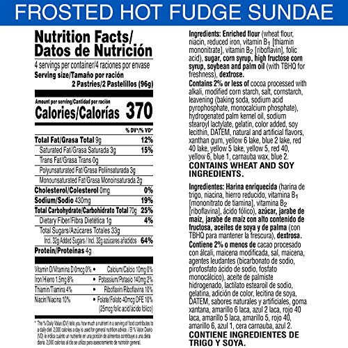 Pop-Tarts, Breakfast Toaster Pastries, Frosted Hot Fudge Sundae, Proudly Baked in the USA, Value Pack, 13.5oz Box (8 Count)