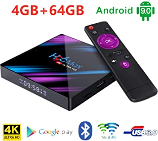 Timmery h96 max スマートボックス Android 9.0 4G 64G RK3318 4K 2.4G 5GデュアルWiFi TVボックス
