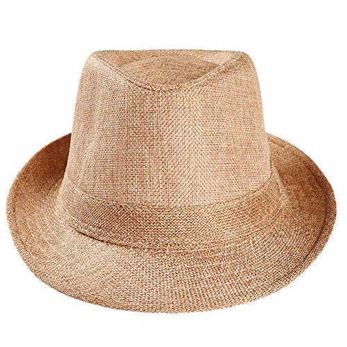 Btruely Jazz Mütze Strandsonnenhut, Hut, Hanf, Sonnenschutzstrand Im Freien, Hut aus Stroh für den Sommer am Strand oder im Urlaub