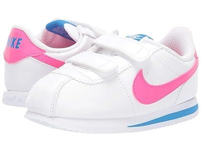 Nike Kids Cortez Basic SL (Infant/Toddler) (White/Hyper Pink/Photo Blue/Black) Kids Shoes