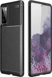 جراب Galaxy S20 FE 5G، غطاء من السيليكون المقاوم للصدمات، جراب حماية ناعم من ألياف الكربون فائقة النحافة ومتين لهاتف Samsu...