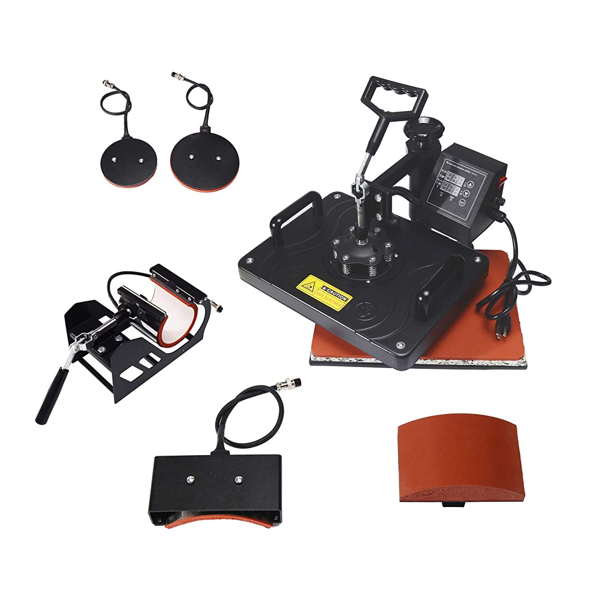 Eseres Heat Press Machine for T Shirts 5 in 1 Combo Mug Heat Sublimation Transfer Press 12 x 15''