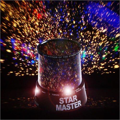 RMAN LED Sternenhimmel Projektor Galaxy Himmel Star Master mit 3 Leuchtprogrammen Nachtlampe Nachtlicht Weltall für Weihnachten Deko