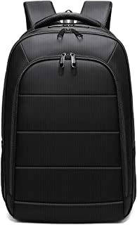 PANFU-AU Student Backpack Nylon Casual Daypack with USB Charging Port Water-Repellent Computer Backpack