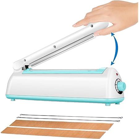 BengMxj - Sellador de impulsos de 20,32 cm para sellar bolsas de plástico con sellado térmico y encogimiento manual de alimentos (2 kits de repuesto)