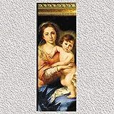 Cuadro Virgen Maria del Pañuelo, Murillo, madera 44x16x1. Ménsula pan de oro envejecido. Se adapta a todos los ambientes, clasico, moderno, rustico. Se pueden coleccionar. Hermoso regalo.