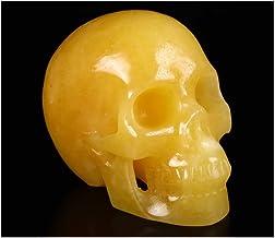 جمجمة كريستال من سكالوليس 12.7 سم، نحتات فنية راقية من الأحجار الكريمة المنحوتة يدويًا، تمثال ريكي هيلينج ستون