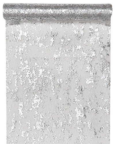 Santex 4721 Chemin de Table Fantaisie Brillant Polyester Argent