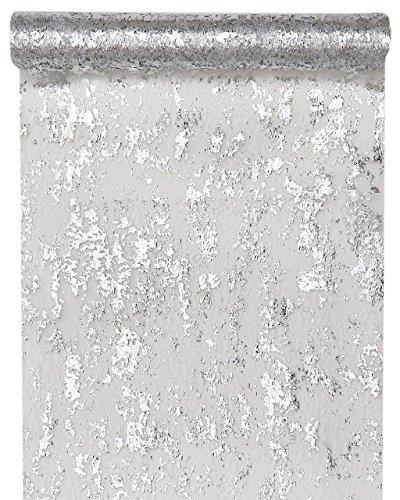 Santex Tischläufer Fantasie, glänzend, Polyester Silber