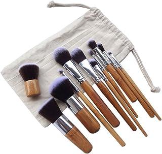 lnlyin 11pcs Cepillos de maquillaje pinceles de maquillaje Kabuki Foundation Pincel schminkp Isla Brochas de Maquillaje co...