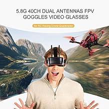 Goolsky 5.8G 40CH FPV Goggles Gafas de Video Antenas Duales para RC Racing Drone Quadcopter