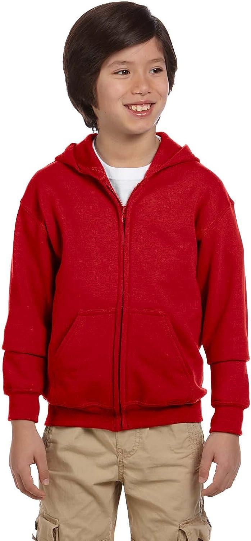 Gildan Big Boy's Heavy Blend Hooded Sweatshirt, Black, Medium