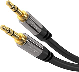 KabelDirekt Audio Cable 10m - Male to Male 24K Gold-Plated Auxiliary Cord - 3.5mm Headphone Jack Aux Extension Cable for H...