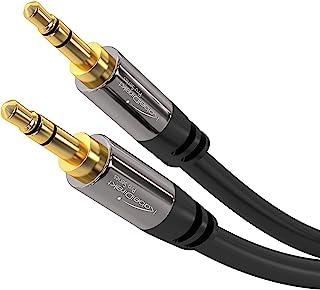 KabelDirekt – stereouttagskabel, Aux-sladd- och ljudkabel 3,5mm (obrytbar och bra för iPhones, iPads, hörlurar, smarttelef...