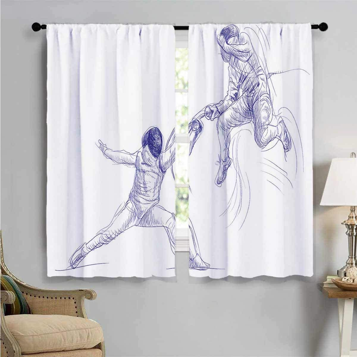 Online limited product Bedroom Curtains Fencing Super sale Duel Living W84 Sketchy Room
