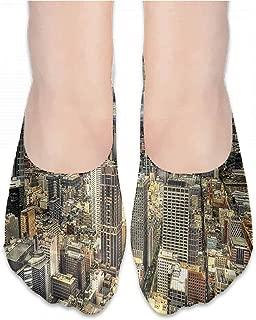 Boat Socks Urban,Hand Drawn Townhouses,socks women cotton