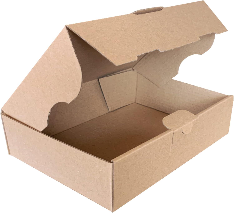 15 unidades | Caja de cartón automontable para envíos postales, correo, organización, almacenaje o regalo. 17,5x12,5x4,3 centímetros