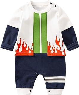 fpengfashion Baby Strampler Ninja Comic Anime Design Baby Jungen Mädchen Strampler Cosplay Kostüm Säugling Outfit Overall Kleidung