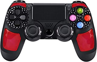 CHENGDAO PS4 Controllers Wireless Dual Shock 4 Bluetooth Gaming Controller for Playstation 4 Remote Controller with Led Bar, Micro USB, Multi-Touch Clickable Touch Pad - Ruby