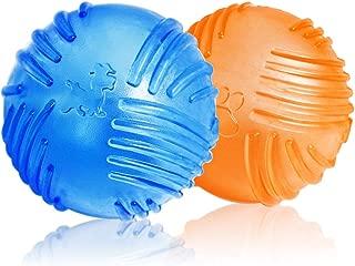 WeinaBingo 犬用 玩具ボール おもちゃ 耐久性 耐噛みトレーニングのおもちゃ インタラクティブおもちゃ 押し出す音を出す ボールは2個セット