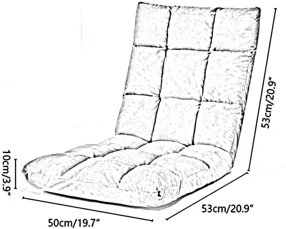 Chaise De Bureau Chaise Longue 5 Réglages De Vitesse Petit Canapé Pliant Paresseux Chaise À Dossier Amovible Et Lavable Chaise Ergonomique - Bleu Rouge