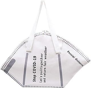 Fashion Mask Style Handtasche Large Capacity Handtaschen Women Canvas Einkaufstaschen Creative Mask Bag Casual Women Canva...