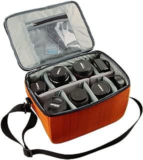 YuHan Waterproof Anti-shock SLR/ DSLR Case Large Capacity Camera Bag Professional Lens Organizer Travel Shoulder Bag with Inner Padding for Canon Nikon Sony Nikon Olympus Samsung