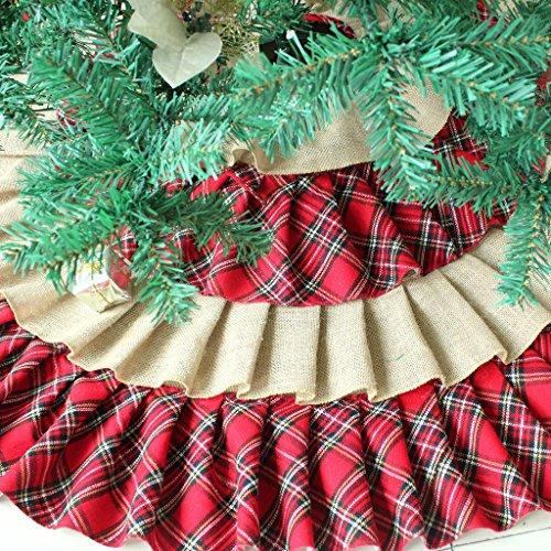 sorrento ruffler jute burlap christmas tree skirt extra large 40 - Extra Large Christmas Tree Skirt
