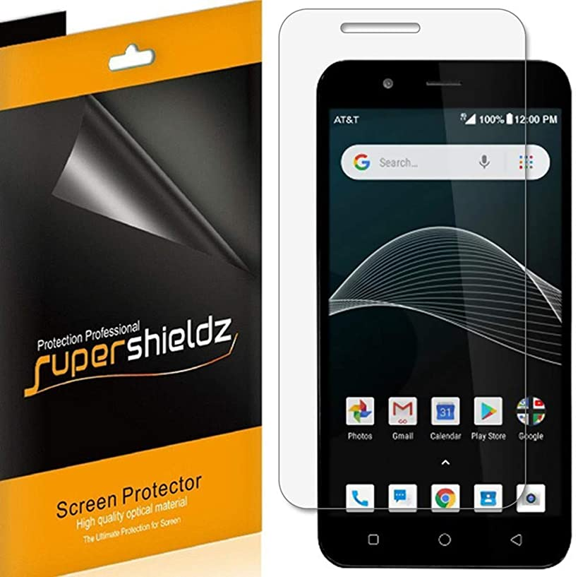 [6-Pack] Supershieldz for Cricket Vision Screen Protector, High Definition Clear Shield + Lifetime Replacement
