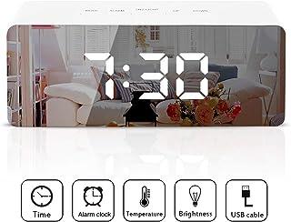 Reloj despertador LED digital Reloj despertador espejo