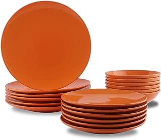 dinnerware sets orange